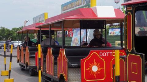 Naik Kereta menuju eco green park jatimpark 2