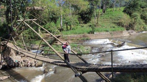 Jembatan bambu khas pujon